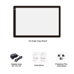 A2 Copy Board Calligraphy Drawing Plate Painted Sketch Smart Touch Control Adjustable Light LED Light Soft Light Eye Protection
