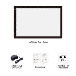 A2 Kopie Bord Kalligraphie Zeichnung Platte Gemalt Skizze Smart Touch Control Einstellbare Licht LED Licht Weiches Licht Augenschutz