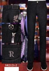 Джинсы BILLIONAIRE мужские, модные, повседневные, удобные, тонкие, из воловьей кожи, с вышивкой, размер 31-40, лето 2020
