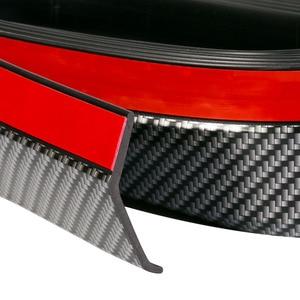Image 3 - 2,5 m Auto Stoßstange Protektoren Splitter Körper Kits Spoiler Stoßfänger Auto Tür Stoßstange Carbon Faser Gummi Lip 65mm Breite streifen