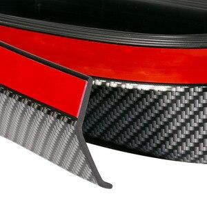 Image 3 - 2.5m zderzak samochodu ochraniacze Splitter Body zestawy Spoiler zderzaki zderzak drzwi samochodu Carbon Fiber Rubber Lip 65mm szerokość taśmy
