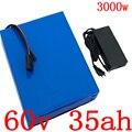 60V batteria Al Litio 60V 35AH 2000W 2500W 3000W scooter batteria 60V 35AH elettrico batteria bicicletta con 50A BMS + 5A caricatore
