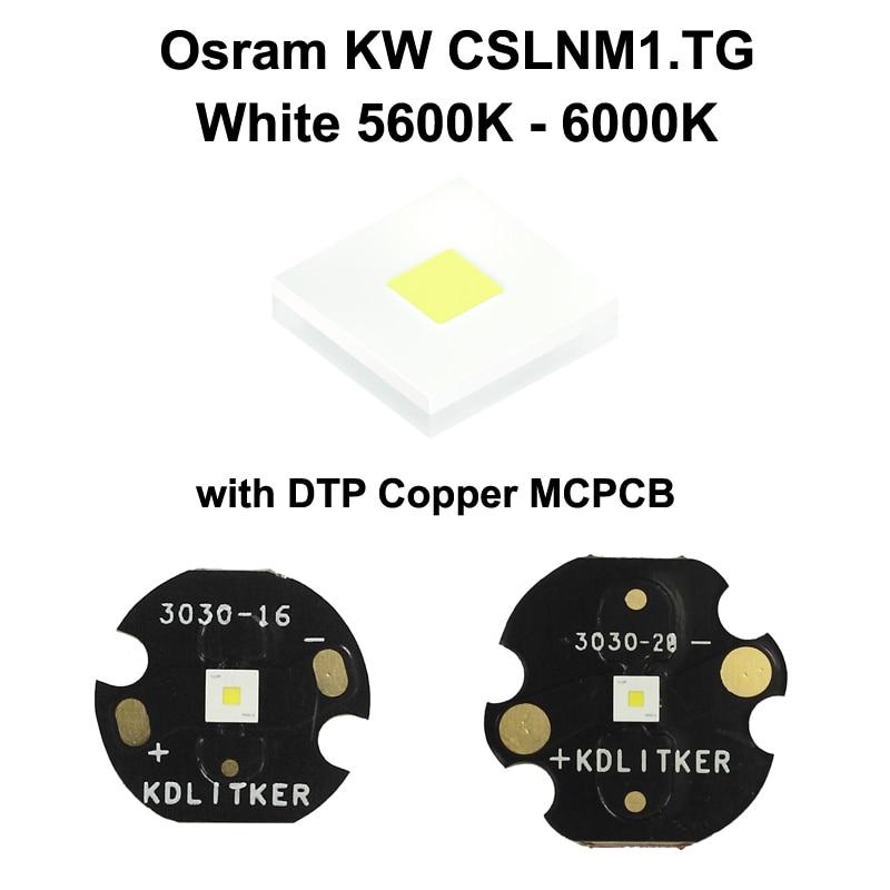 Osram KW CSLNM1.TG 6N-ebzB46-65 White 5600K - 6000K LED Emitter With KDLITKER 16mm / 20mm DTP Copper MCPCB