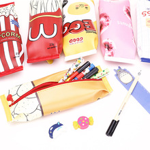 1PCS Pencil Bag South Korean Creative And Simple Snacks Small Fresh student children cute receive pencil case For Boys Girls