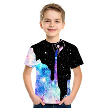 New Boys and Girls Summer Hot Children Clothes Harajuku Style Starry Sky 3D Printing Kids T-Shirt Hip-hop Boys Girls Tee Tops