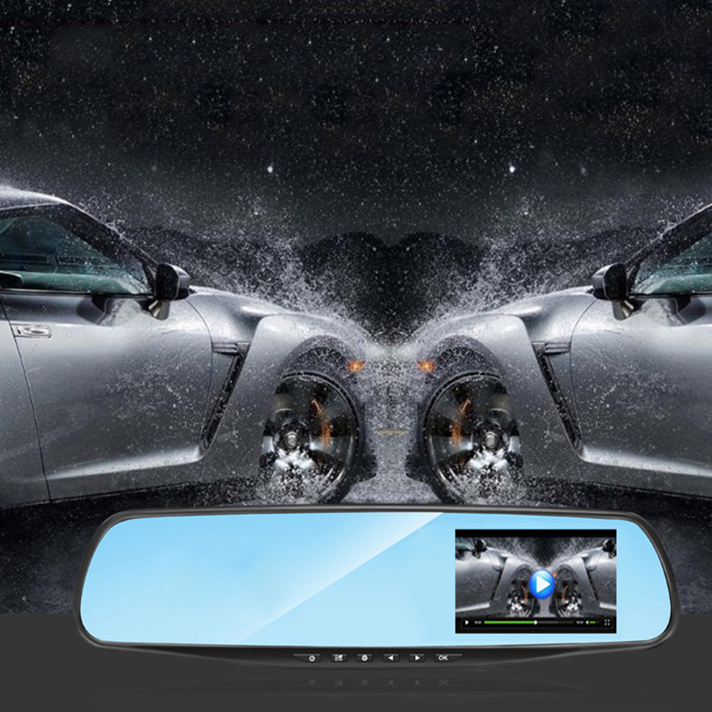 Full HD 1080P <font><b>Car</b></font> <font><b>Dvr</b></font> <font><b>Camera</b></font> 3.9 <font><b>inch</b></font> <font><b>Rearview</b></font> <font><b>Mirror</b></font> Driving Video Recorder <font><b>5</b></font>-12V Rear View <font><b>Mirror</b></font> <font><b>DVR</b></font> <font><b>Camera</b></font> image