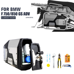 ¡Nueva llegada! Caja de Herramientas para BMW r1250gs r1200gs lc & adv Adventure 2002 2008 2018 para BMW r 1200 gs soporte lateral izquierdo caja de aluminio