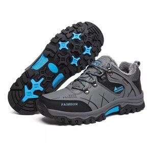 Image 4 - Yeni motosiklet botları su geçirmez erkekler kış çizmeler Moto çizmeler PU deri motosiklet ayakkabı motosiklet Biker binici çizmeleri ayak bileği ayakkabı