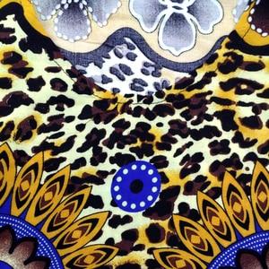 Image 5 - Dashikiage Da Báo 100% Cotton Châu Phi Dashiki Xanh Tay Ngắn Xanh Dương Váy Đầm Cho Nữ