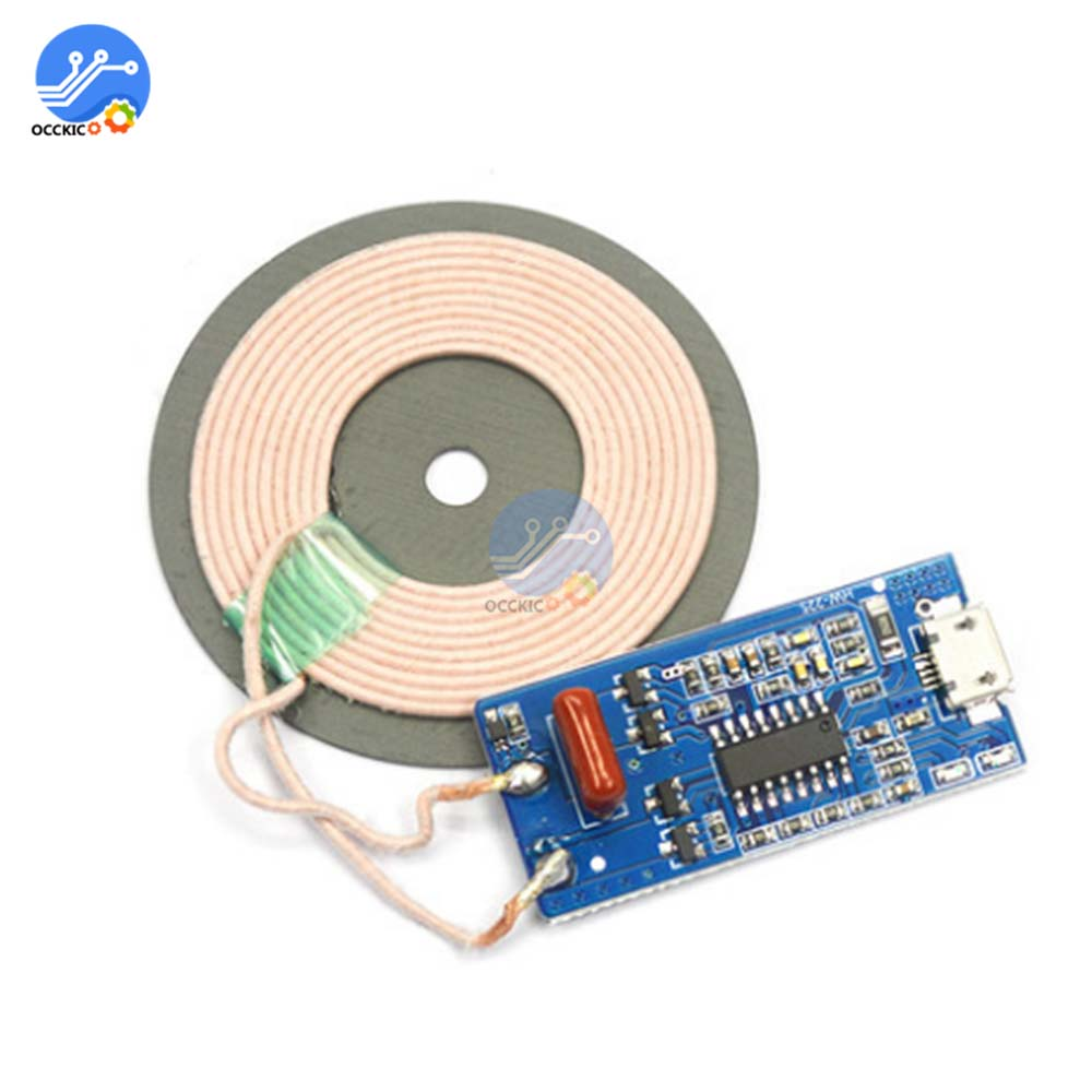 HW-225 5V 1A 5W Wireless Charging Module Transmitter With LED Indicator FOD Function Support WPC Reciever For Battery Charger