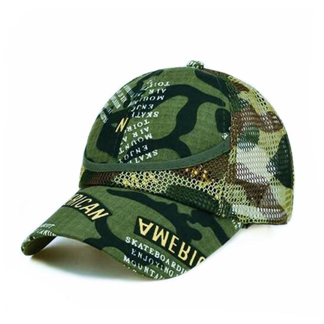 Outdoor Camouflage Boy's Mesh Baseball Cap 3