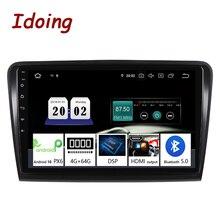 "Idoing 10.2 ""2.5DรถAndroid 10 Multimedia PlayerสำหรับSkoda Superb 2008 2014 4G + 64G GPSอุปกรณ์นำทางซีดานไม่มีDvd 2din"