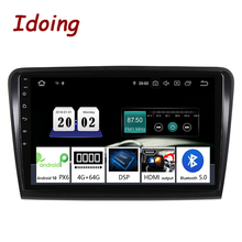 "Idoing 10.2""2.5D Car Android 10 Multimedia Player For SkodaSuperb 2008 2014 4G+64G GPS Navigation Accessories Sedan No dvd 2din"