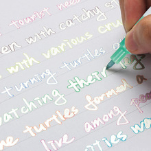 8Pcs/Set Double Lines Contour Color Art Markers Out Line Pen Stationery Highlighter DIY Scrapbooking Bullet Diary Graffiti Poste