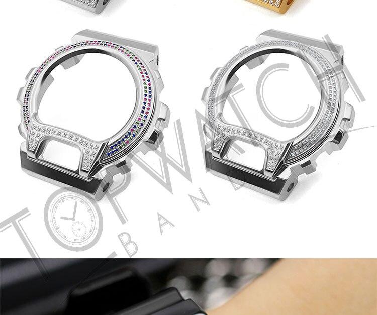 diamante moldura faixa de relógio para dw6900
