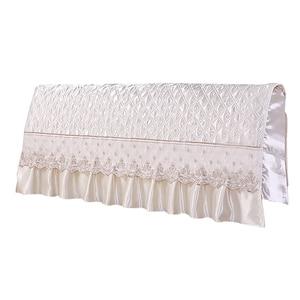 Image 3 - النمط الأوروبي الحرير تشبه غرفة نوم اللوح الأمامي للسرير غطاء حامي السرير البيج