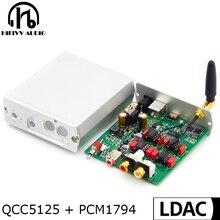 HIFI Mp3ถอดรหัส QCC5125 + PCM1794A APTX HD USB บอร์ด DAC รองรับหูฟังบลูทูธที่รองรับ PCM 192KHz