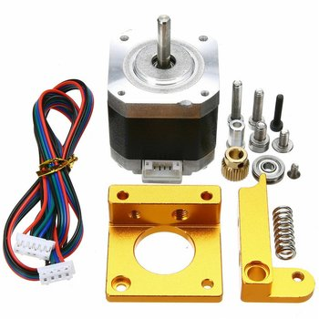3D Printer Set MK8 Aluminum Extruder Kit With 4401 Stepper Motor 1.75mm Filament For 3D Printer RepRap reprap kossel 3d printer aluminum alloy bowden extruder for 1 75 3 mm filament including 42 stepper motor