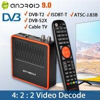 2021 4K/8K Decoder GT MEDIA GTCOMBO Android 9,0 TV box,Satellite TV empfänger, TV Tuner, M3U CCam DVB-S2X + DVB-T2 Set top box 5G wi