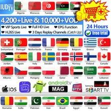 IUDTV PRO France IPTV M3u Italia Spanish IP TV Greek Swedish Europe Code for Android Subscription Spain