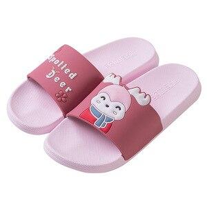 Image 5 - 2020 子供の親屋内スリッパソフト Pvc 子供ママパパ浴室スリッパアンチ少年少女の夏のホームの床スライド SH295