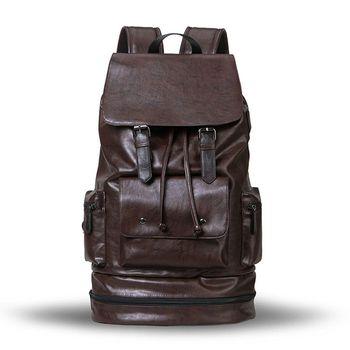 Weysfor Fashion Waterproof backpack Men Backpack Leather Bookbags Mens PU School Bags Male Functional Bags Capacity Men Bag brand men backpack leather male functional bags men waterproof backpack big capacity laptop backpack school bags for teenager