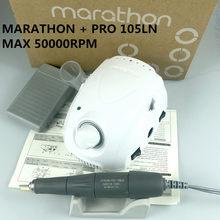 Marathon-champion 3 pro 105ln lidar com 50000rpm broca elétrica do prego forte 210 micro motor máquina de moer para ferramentas da arte do prego