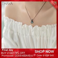 Thaya oryginalny Design śpiąca królewna naszyjnik S925 srebrny Handmade kryształowy krótki łańcuszek do obojczyka biżuteria prezent