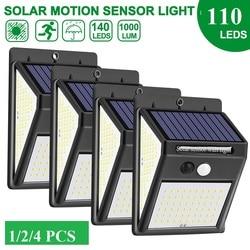 100 leds luz solar ao ar livre pir sensor de movimento lâmpada de parede ao ar livre lâmpada solar à prova dwaterproof água luz para led exterior decoração do jardim