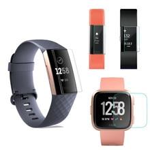 2 Pcs morbido TPU trasparente pellicola salvaschermo pellicola protettiva per Fitbit Charge 2/3 Versa 1/2 ionico inspire Alta Ace2 Blaze Smart Watch