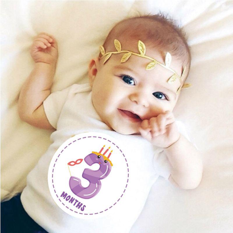 Baby Monthly Milestone Sticker Belly Decals Shower Gift Scrapbook Photo Keepsake