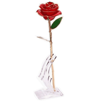 Single of Flowers Immortal Rose 28 cm Long Mother's Day Gift Immortal Flower Holiday Decoration Immortal Rose фото