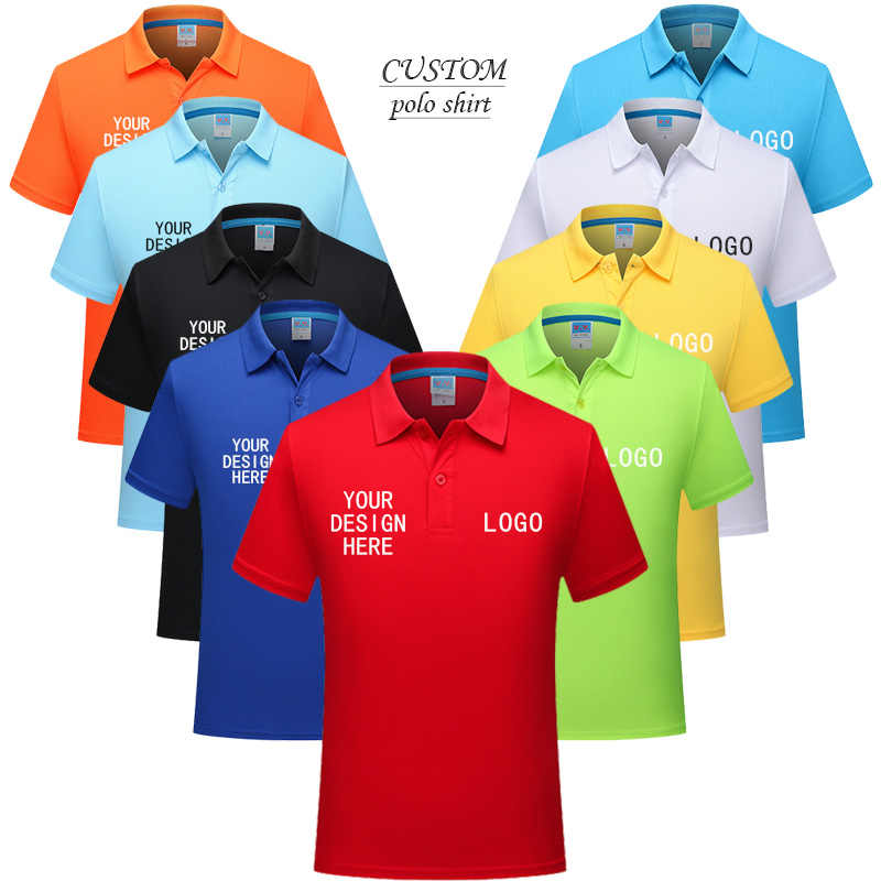 Custom Embroidery Printing Diy Brand Basic Customized Family Reunion Polo Shirt Business Embroidered Shirt Uniform Shirt Aliexpress