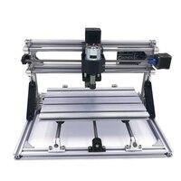 Diy mini cnc máquina de gravura a laser cnc 3018 pro com er11 3 eixos plástico acrílico pcb pvc fresadora kits roteador madeira|Roteadores de madeira| |  -