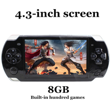Video Game Console Handheld Players 8G 4.3 inch MP4 TV Out Player Support For Camera E-book