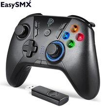 EasySMX ESM 9110 2.4 جرام USB عصا تحكم لاسلكية غمبد للكمبيوتر تي في بوكس أندرويد الهاتف أذرع التحكم في ألعاب الفيديو الاهتزاز غمبد لأجهزة الكمبيوتر أندرويد