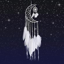 Mini decoração de sonho feito à mão, enfeite de lua para pendurar em casa, decoração de quarto, sala de jantar e sonho