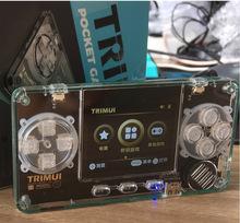 TRIMUI Retro konsola do gier ultra-mała Mini przenośna metalowa powłoka gra wideo konsola dla dzieci prezenty odtwarzacz gier tanie tanio VERFANS CN (pochodzenie) Wtyczka UE Trimui A66 2 8