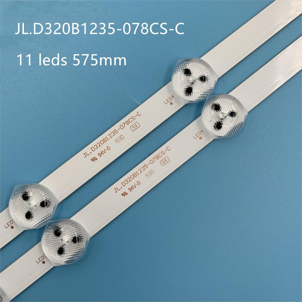 10 pces 575mm 3 v * 11 leds nova tira conduzida original para JL.D320B1235-078CS-C VES315WNDS-2D-N14