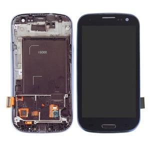 Tft lcd tela de toque digitador assembléia com moldura para samsung galaxy s3 neo i9300i GT-i9301i i9308