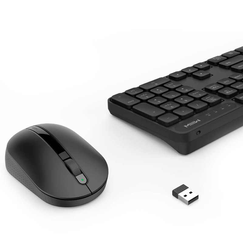 Asli Xiaomi Miiiw Nirkabel Office Keyboard & Mouse Set 104 Kunci 2.4GHz Windows PC MAC Kompatibel Nirkabel Portable Keyboard