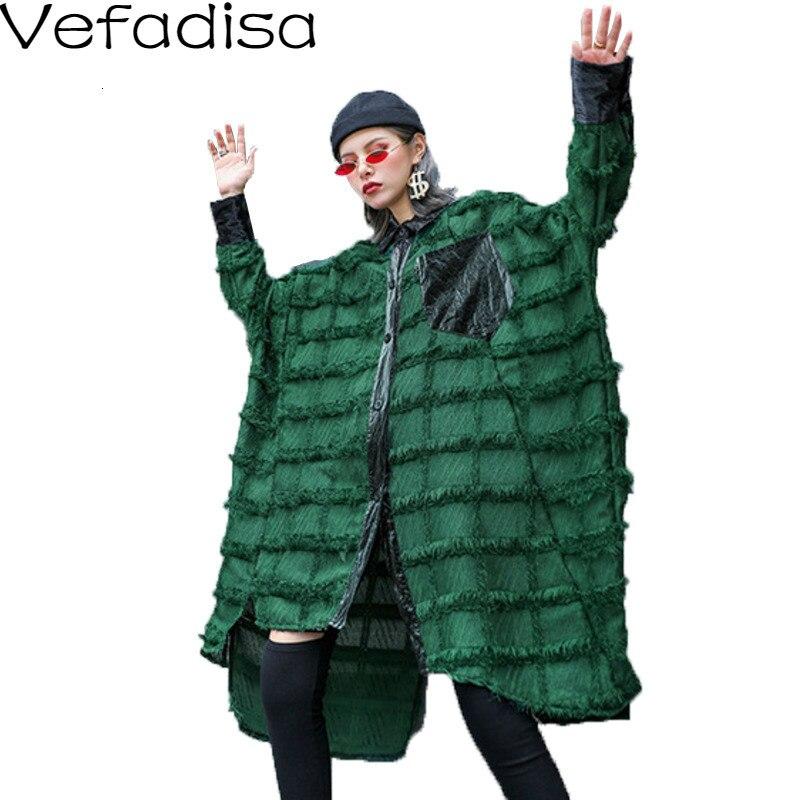 Vefadisa printemps solide gland Blouse Cardigans à manches longues Blouse simple boutonnage Blouse Blouse décontractée femme ample 2020 QYF769