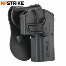 Amomax coldre tático ajustável para jericho 941 brinquedo arma modificado táticas acessórios-destro preto