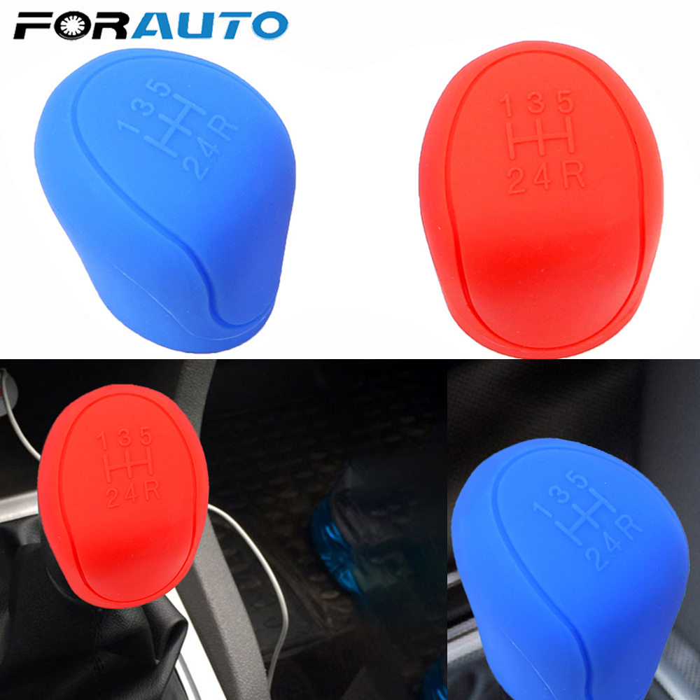Silicone Car Gear Shift Collars For ESCORT <font><b>Ford</b></font> <font><b>Focus</b></font> 2 3 4 MK2 MK3 MK4 MT 2009 - <font><b>2017</b></font> Car-styling Gear Head Shift Knob Cover image