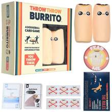 Burrito jogar dodgeball jogando jogo de cartas jogos de tabuleiro para a família casa festa jogar cartões reduzindo pressão prop juegos presente
