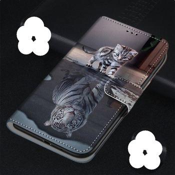 Перейти на Алиэкспресс и купить Милый Магнитный кошелек с животными для Redmi Note 8T 8 7 6 Pro 5 Prime K20 K30 4G 5G GO 4X Cat Tiger слот для карт Магнитный чехол для телефона DP08F