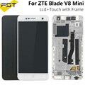 Für ZTE Blade V8 mini v0850 LCD Display + Touch Screen Digitizer Montage Mit Rahmen Ersetzen Teile Handy Zubehör + werkzeuge|Handy-LCDs|   -