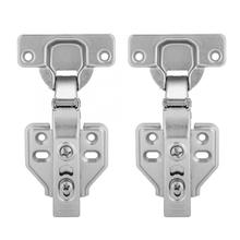 Stainless Steel Spring Hinge Steel Door Hydraulic Hinge Damper Soft Buffer Close for Cabinet Cupboard Furniture Hinges Antique stainless steel no drilling hole cabinet hinge bridge shaped hinge buffer cabinet cupboard door hinges furniture hardware