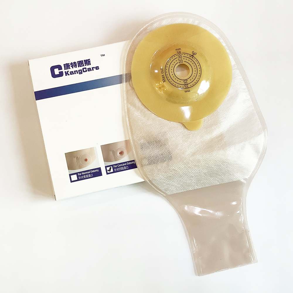New Arrival~One-Piece Convexity Colostomy Pouch, With Clip Closure Drainage Ostomy Bag, Cut-to Fit For Stoma Hollow