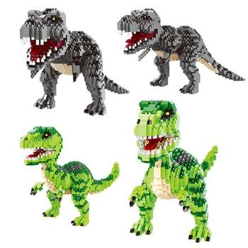 цена на 1530PCS Jurassic Dinosaur Building Blocks Tyrannosaurus Model Compatible DIY Dinosaur Bricks Educational Toys For Kids Gift